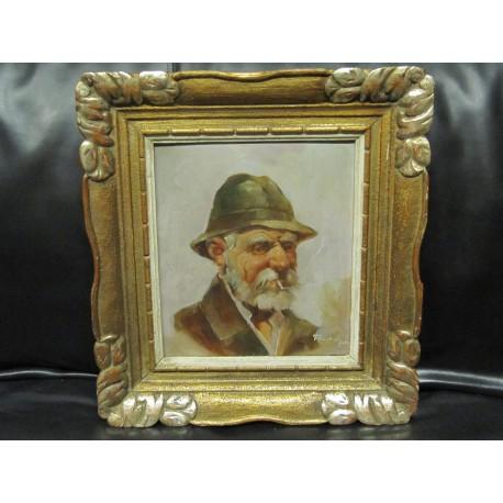 obraz Starý muž s cigaretou